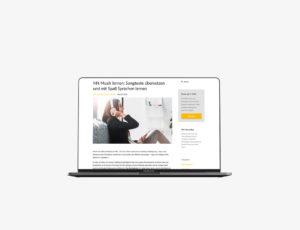 Mockup des Corporate Blog von Brain-Friendly von Katharina Rucker