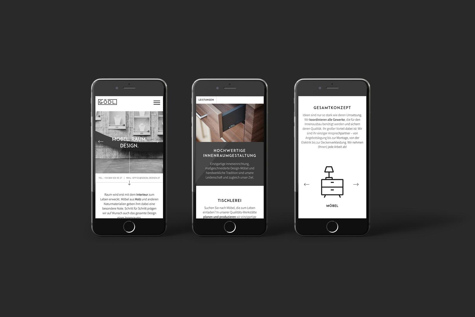 Website Texte für Gödl Möbel Raum Design in Graz